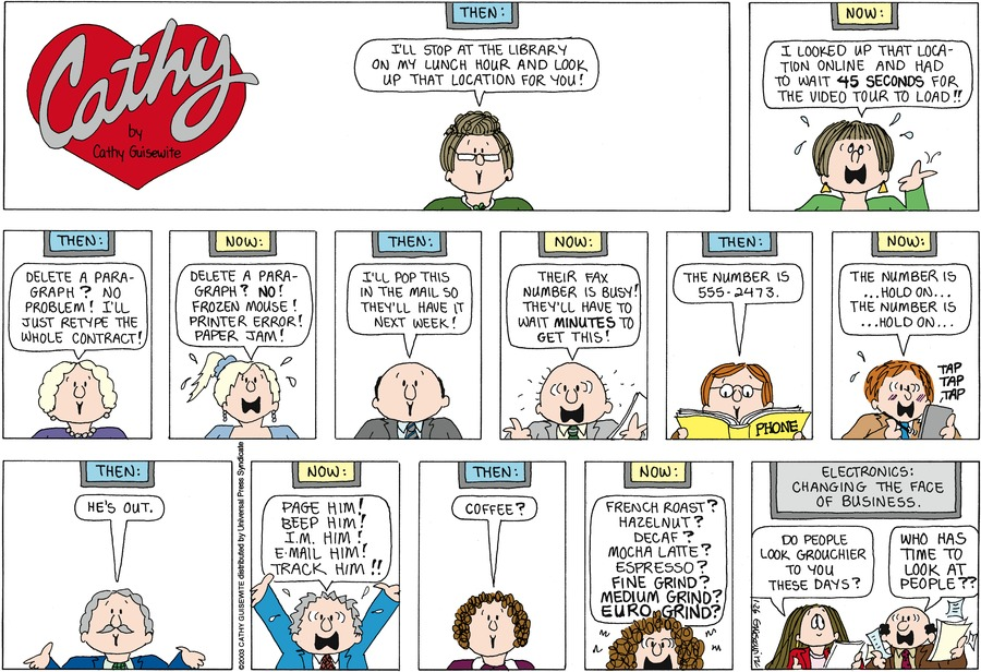 Cathy Comic Strip for January 26, 2014