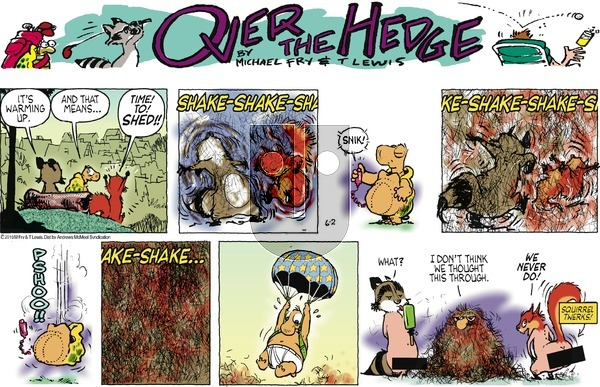 Over the Hedge on Sunday June 2, 2019 Comic Strip