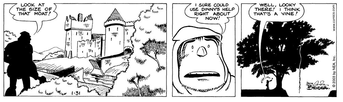 Alley Oop for Jan 31, 2003 Comic Strip