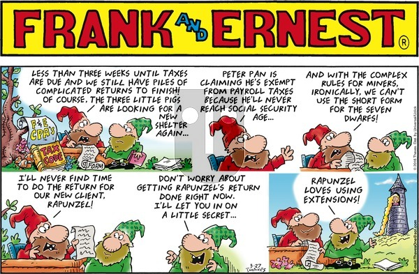 Frank and Ernest on Sunday March 27, 2016 Comic Strip
