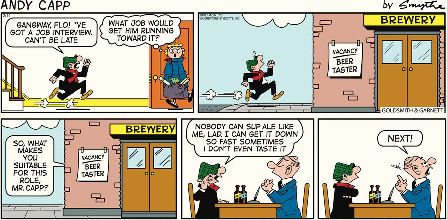 Andy Capp by Reg Smythe on Sun, 14 Feb 2021
