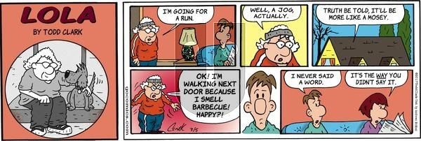 Lola on Sunday March 5, 2017 Comic Strip