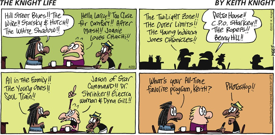 The Knight Life Comic Strip for April 29, 2012