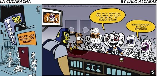 La Cucaracha - Sunday November 3, 2019 Comic Strip