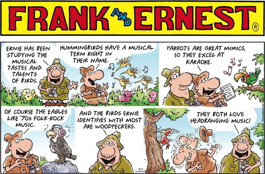 Frank and Ernest Comic Strip for August 11, 2019