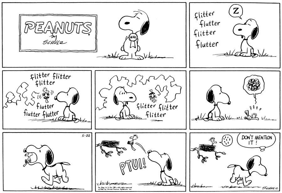 Peanuts Comic Strip for May 22, 1966