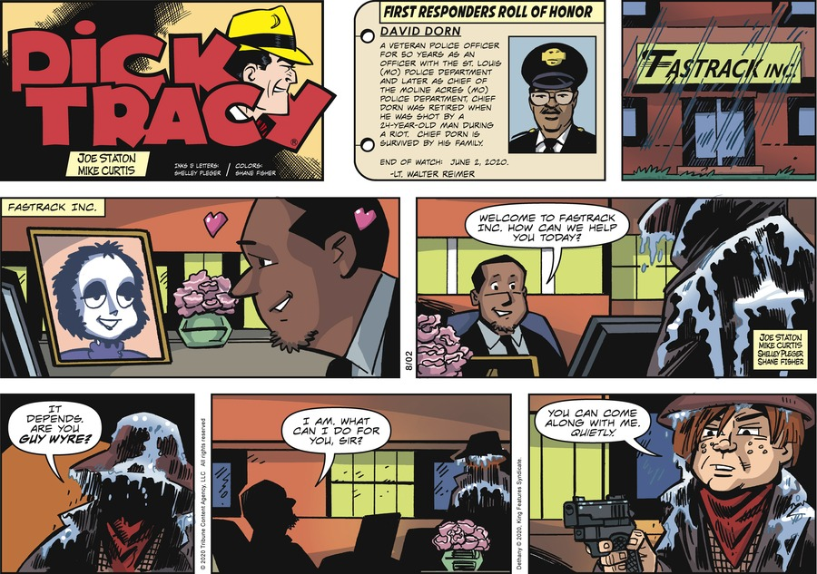 Dick Tracy Comic Strip for August 02, 2020