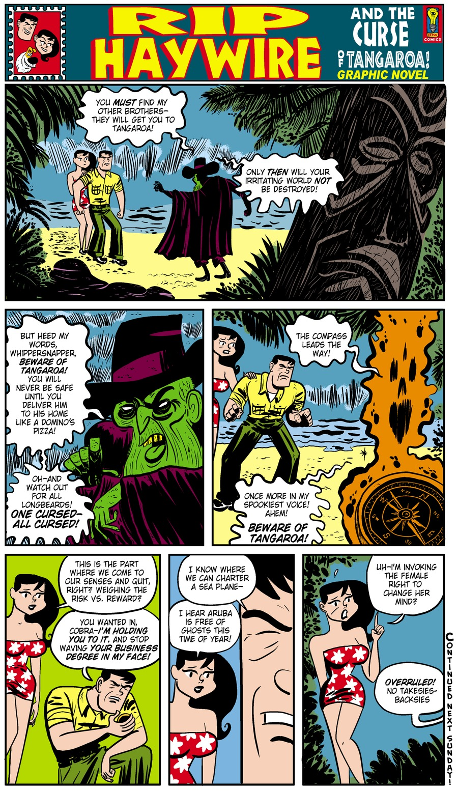 Rip Haywire Comic Strip for December 22, 2013