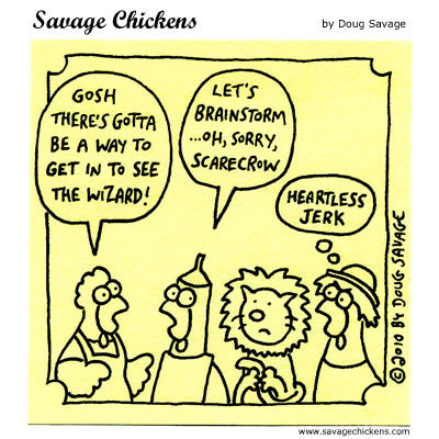 Savage Chickens Comic Strip for March 12, 2014