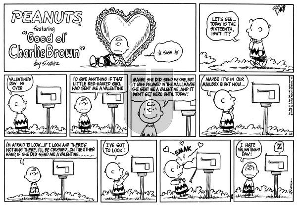 Peanuts on Sunday February 16, 1969 Comic Strip