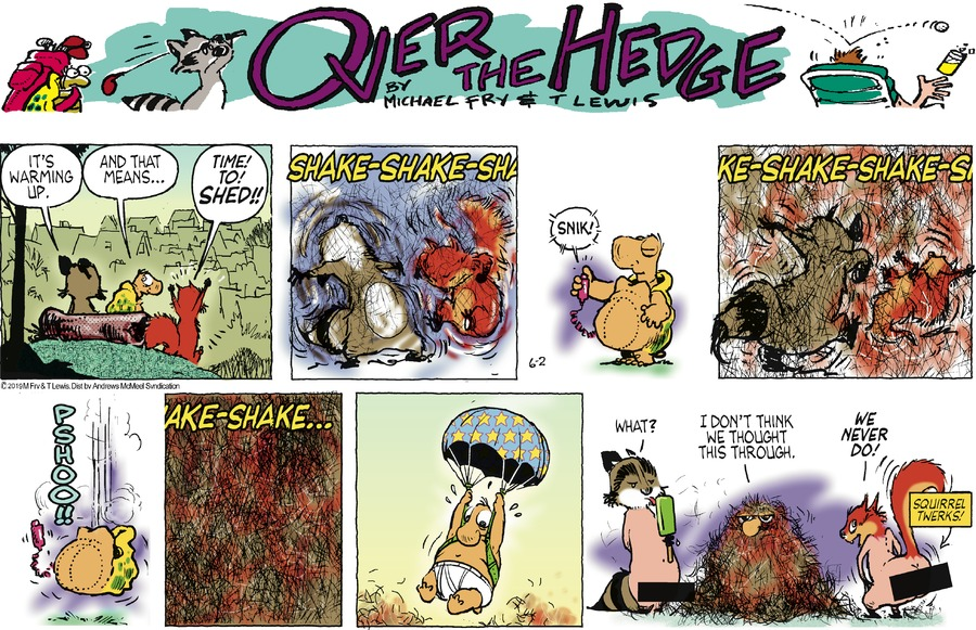 Over the Hedge Comic Strip for June 02, 2019