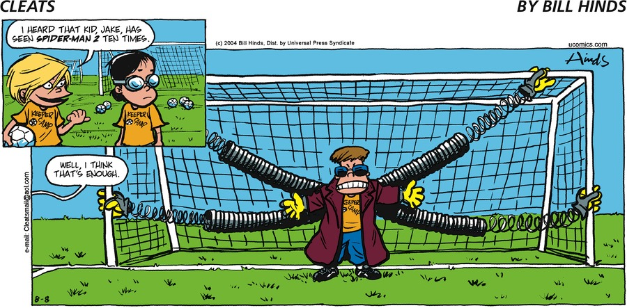 Cleats Comic Strip for August 08, 2004