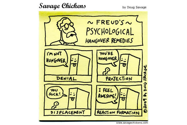 Freud's psychological hangover remedies