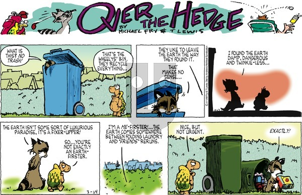 Over the Hedge on Sunday March 24, 2019 Comic Strip