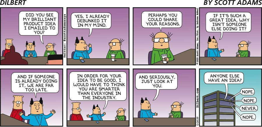 Wally Makes A Suggestion - Dilbert by Scott Adams