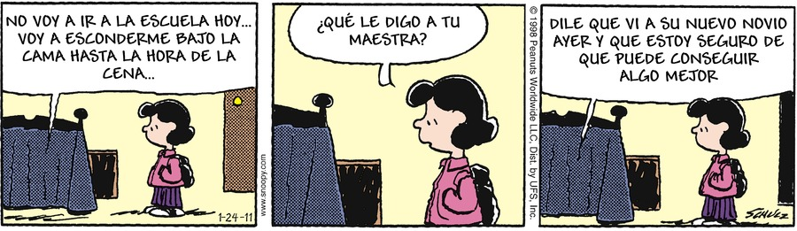 Snoopy en Español Comic Strip for January 14, 2018