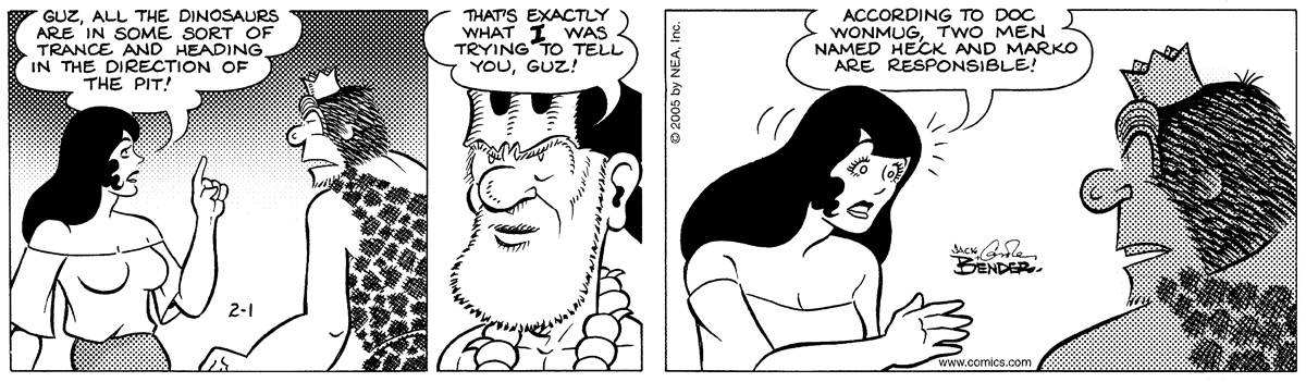 Alley Oop for Feb 1, 2005 Comic Strip