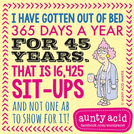 Aunty Acid by Ged Backland for January 13, 2019