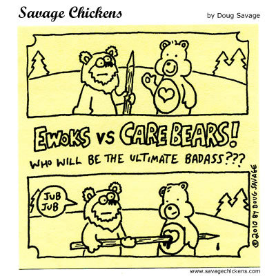 Ewoks Vs Carebears! Who will be the ultimate badass??