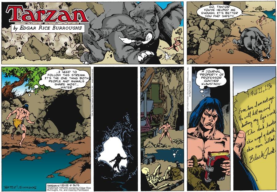 Tarzan Comic Strip for January 20, 2002