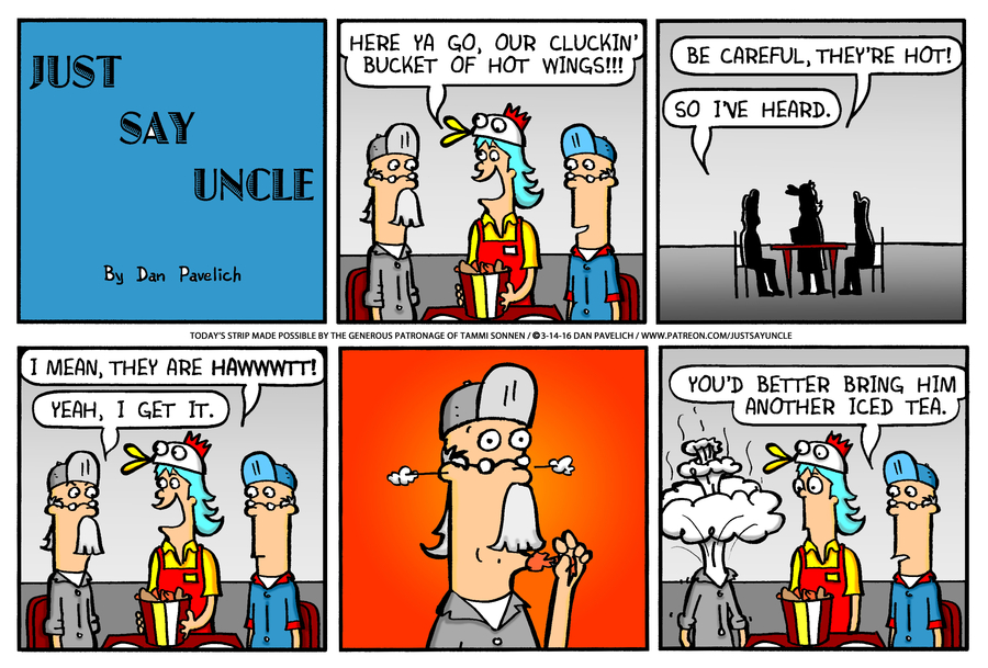 Just Say Uncle Comic Strip for March 29, 2020