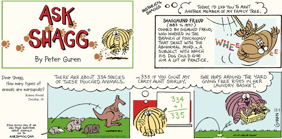 Ask Shagg Comic Strip for December 01, 2019