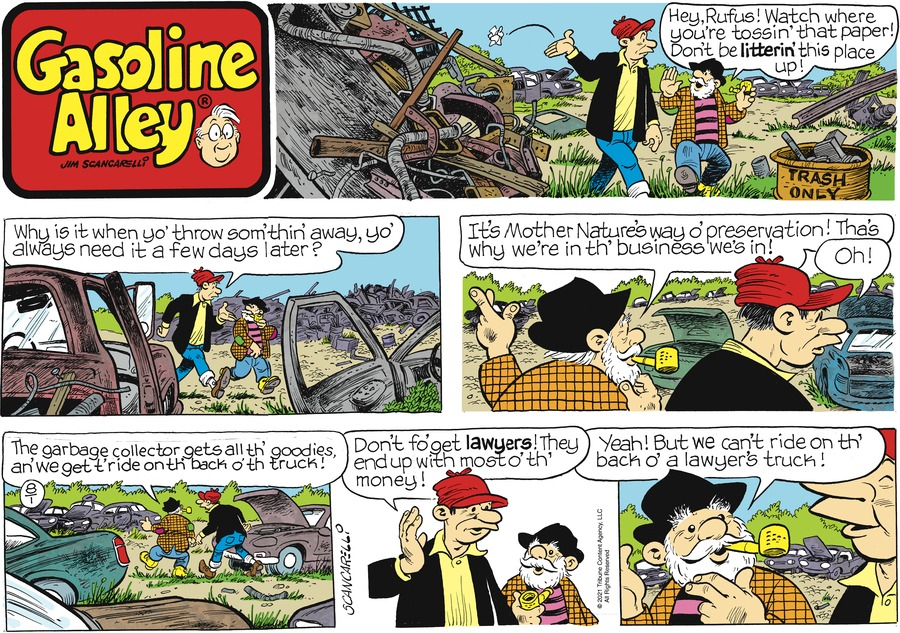 Gasoline Alley Comic Strip for August 01, 2021