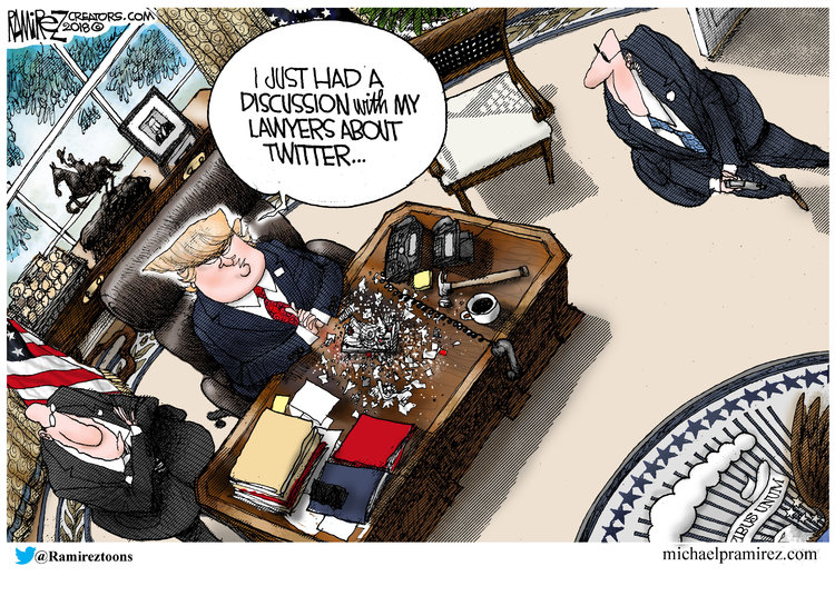 Michael Ramirez for Aug 9, 2018 Comic Strip