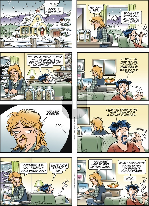 Doonesbury on Sunday February 15, 2015 Comic Strip