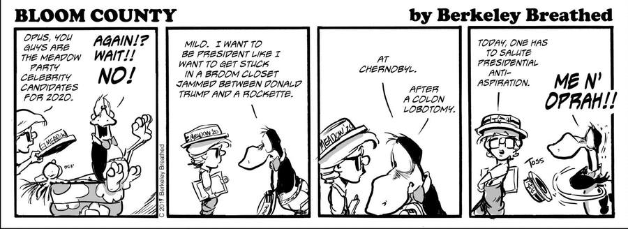 Bloom County 2019 by Berkeley Breathed for July 01, 2019