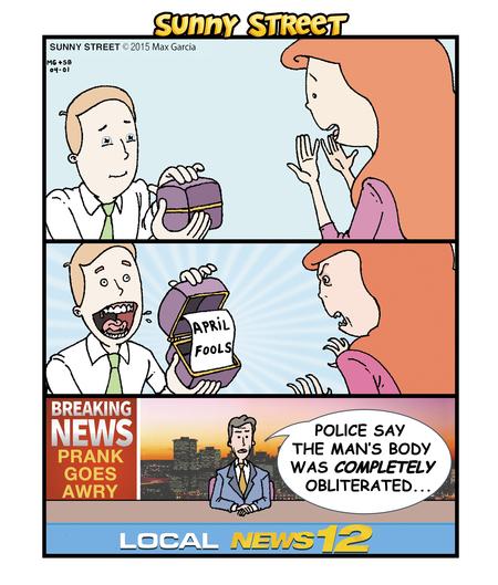 Sunny Street Comic Strip for April 01, 2015