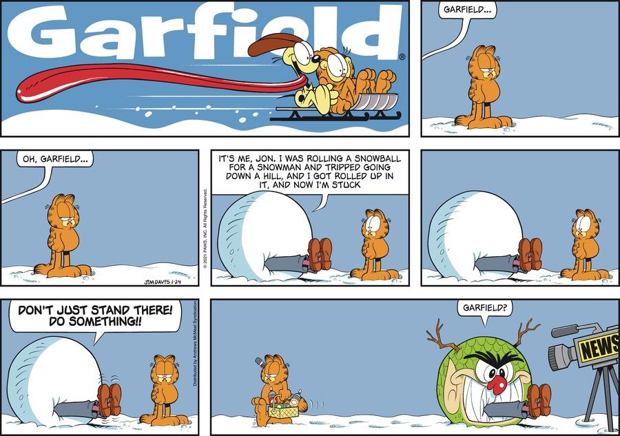 Garfield Comic Strip for January 24, 2021