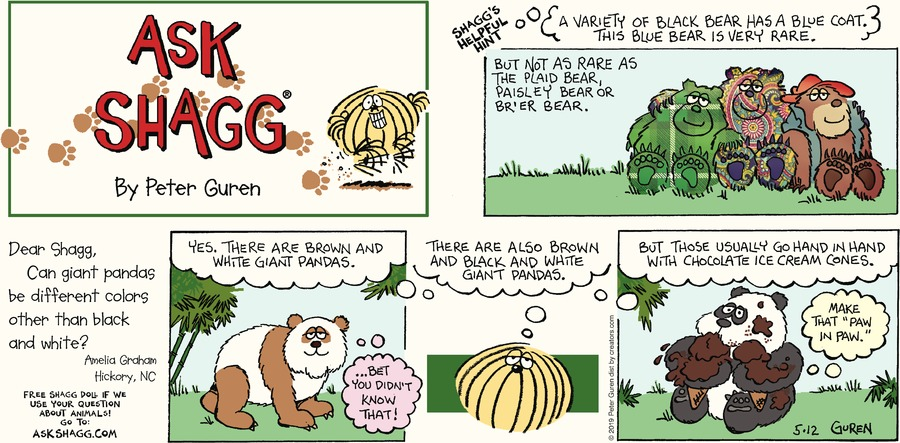 Ask Shagg Comic Strip for May 12, 2019