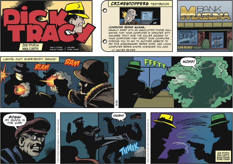Dick Tracy Comic Strip for May 20, 2018