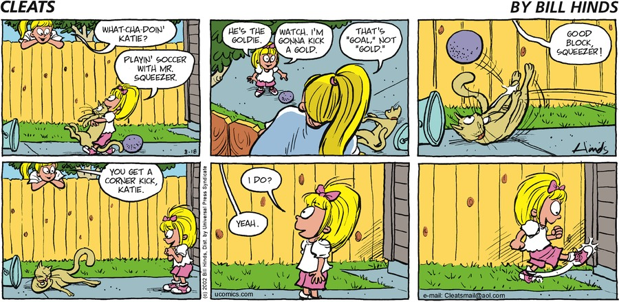 Cleats Comic Strip for August 18, 2002