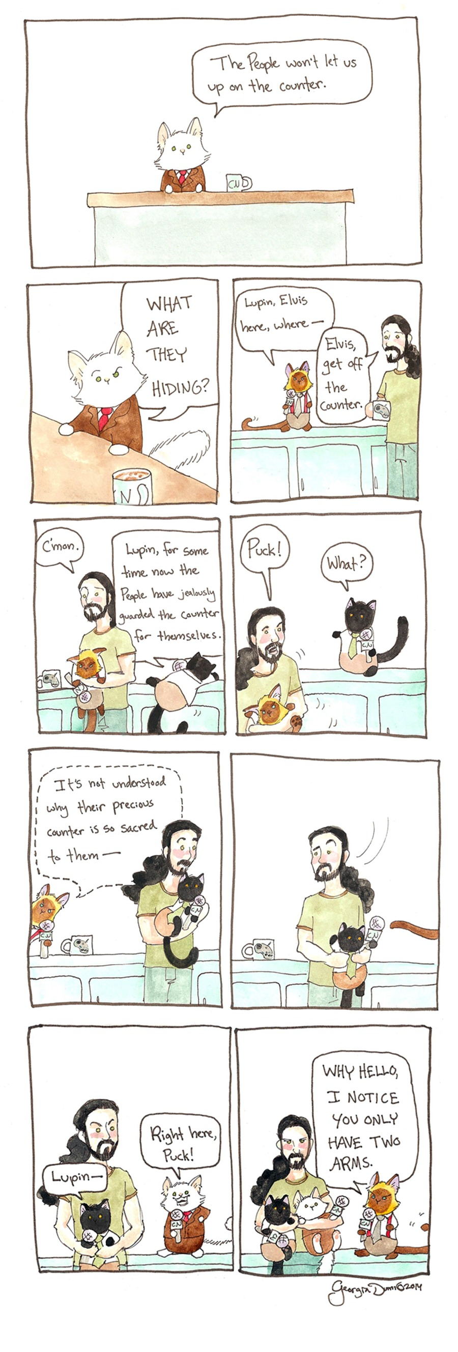 Breaking Cat News for Oct 16, 2016 Comic Strip