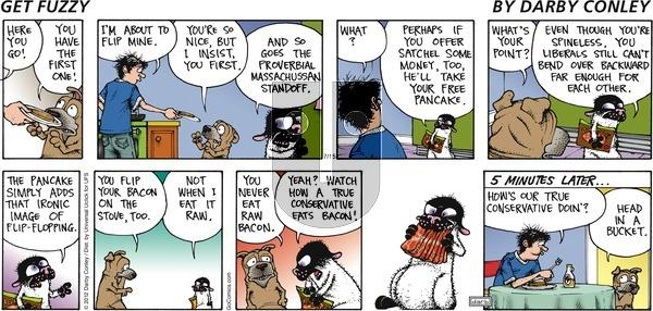Get Fuzzy on Sunday July 15, 2012 Comic Strip