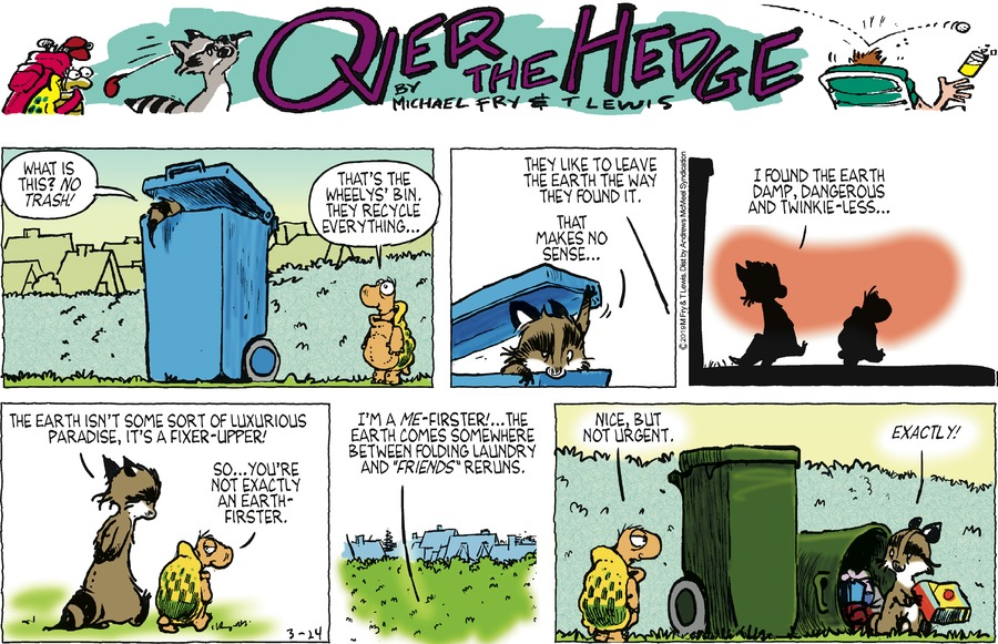 Over the Hedge by T Lewis and Michael Fry for March 24, 2019
