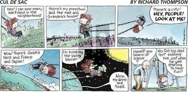 Cul de Sac - Sunday October 13, 2019 Comic Strip