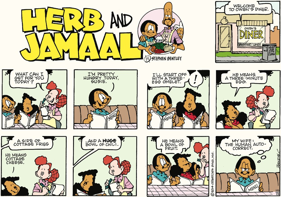 Herb and Jamaal Comic Strip for October 13, 2019