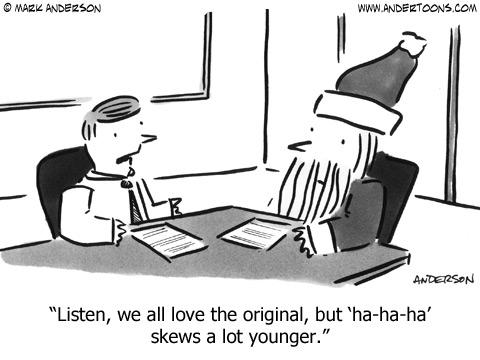 Listen, we all love the original, but 'ha-ha-ha' skews a lot younger.