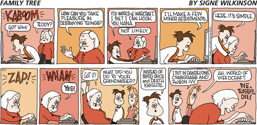 Family Tree for May 26, 2013 Comic Strip