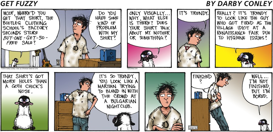 Get Fuzzy Comic Strip for August 26, 2012