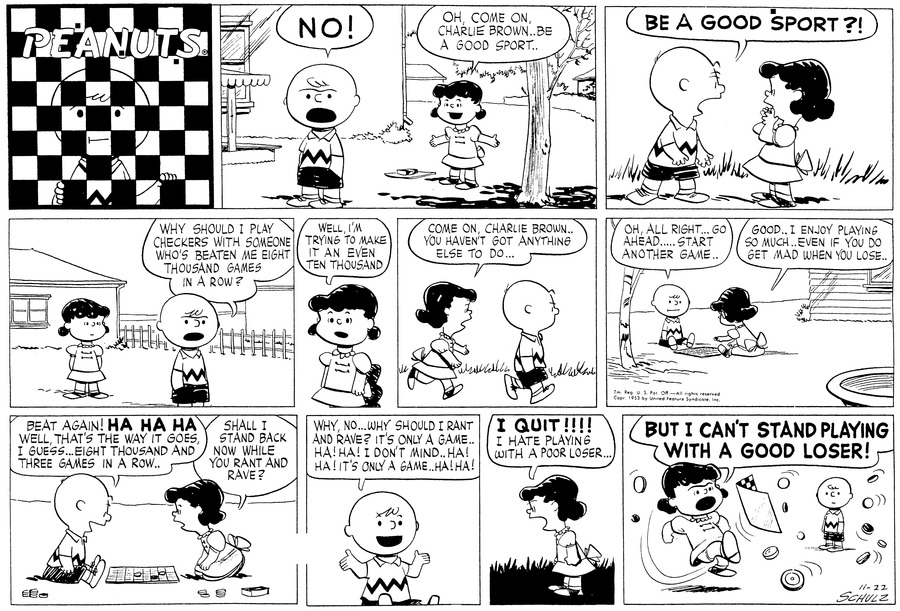 Peanuts Comic Strip for November 22, 1953