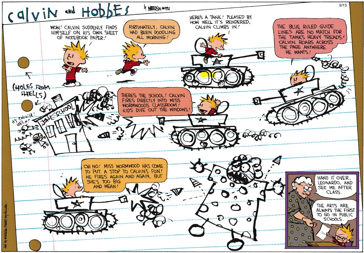 Calvin and Hobbes Comic Strip for November 04, 2012