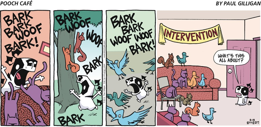 Pooch Cafe Comic Strip for August 18, 2013