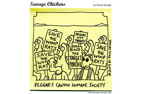 Savage Chickens Comic Strip for January 21, 2013