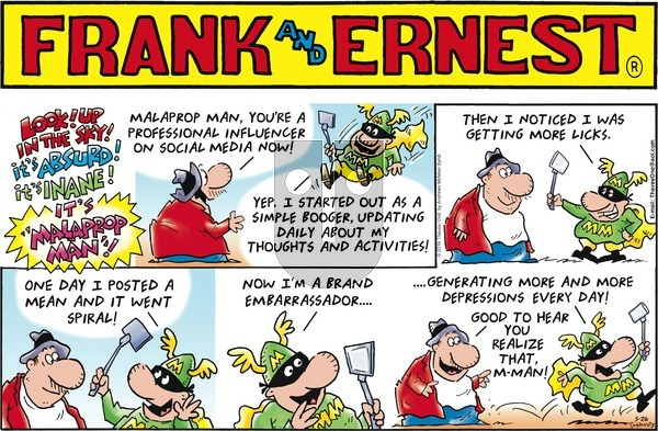 Frank and Ernest on Sunday May 26, 2019 Comic Strip