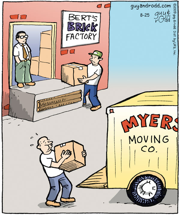 Bert's brick factory Myers' moving co.