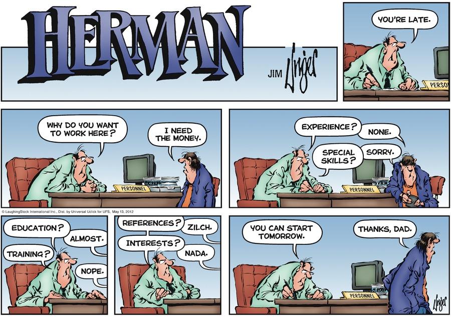 Herman for May 13, 2012 Comic Strip